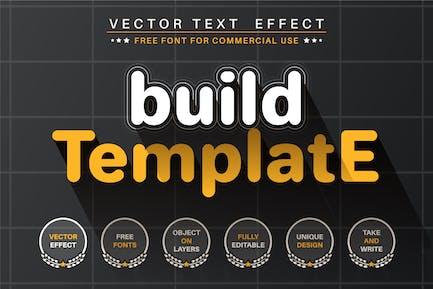 Crear Plantilla - efecto de texto editable, estilo de fuente