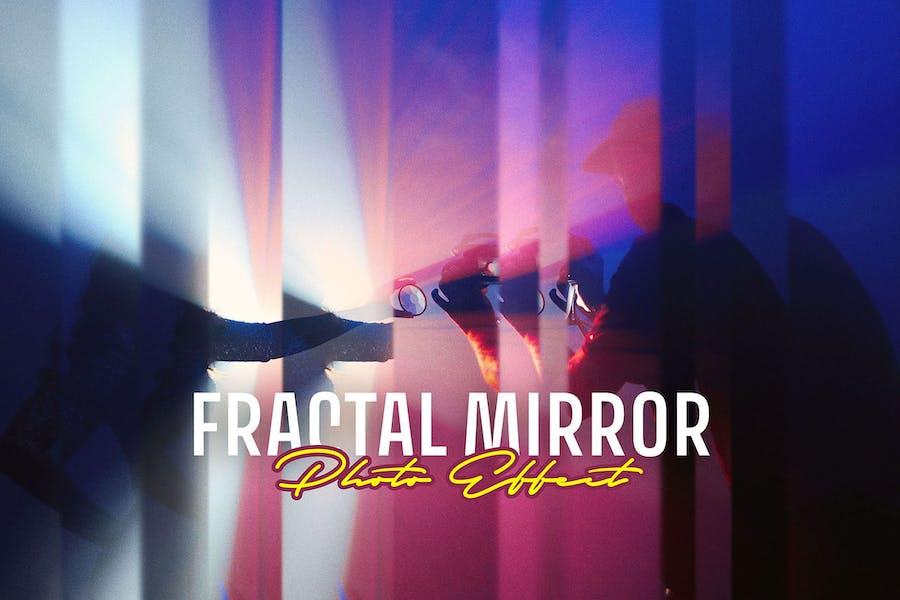 Фрактальный зеркальный фотоэффект