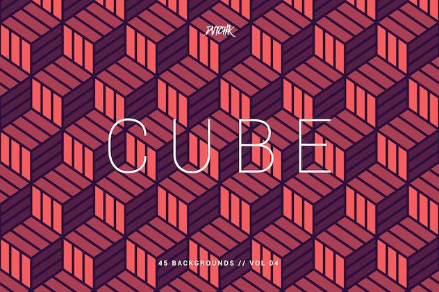 Cube| Seamless Geometric Backgrounds | Vol. 04