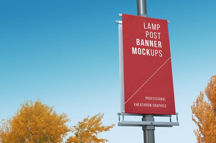 Thumbnail for City Lamp Post Banners Mock-Ups Vol.1