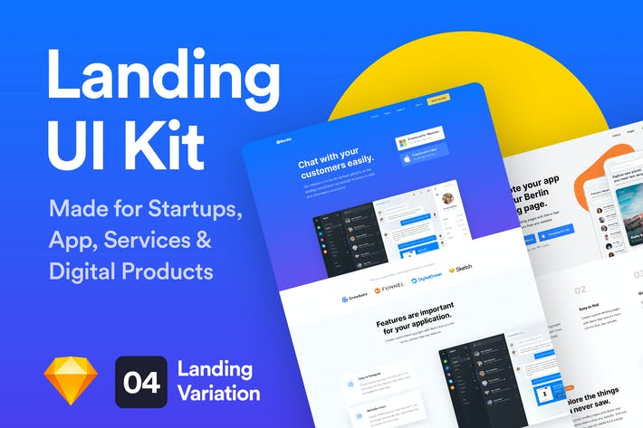 Thumbnail for Berlin - Landing Page UI Kit