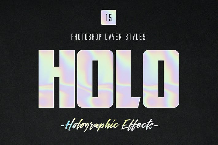 Cover Image For Holographic Photoshop Layer Styles