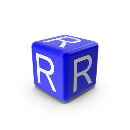Blue R Block