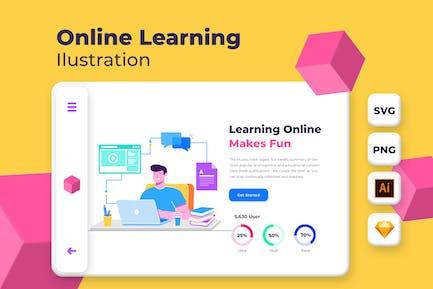 Learning Online Fun  - Onboarding Illustration