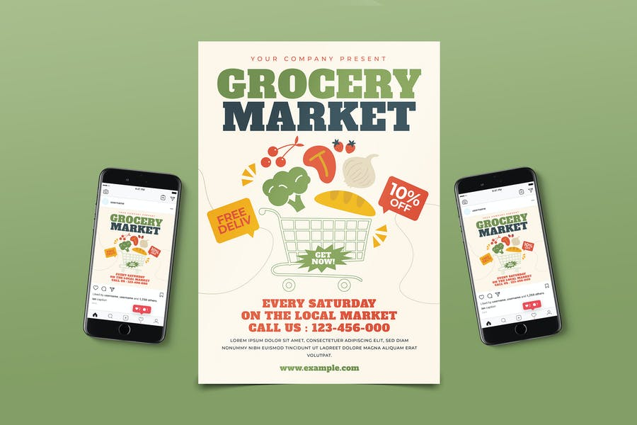 Grocery Market Flyer Pack