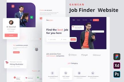 GAWEAN - Startseite der Jobfinder-Website