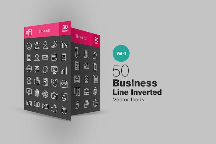 Thumbnail for 50 Invertierte Icons für Geschäftszeile