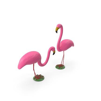 Розовый Фламинго Газон Декор