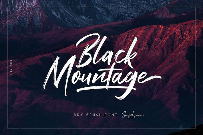 Thumbnail for Black Mountage - Brush Font