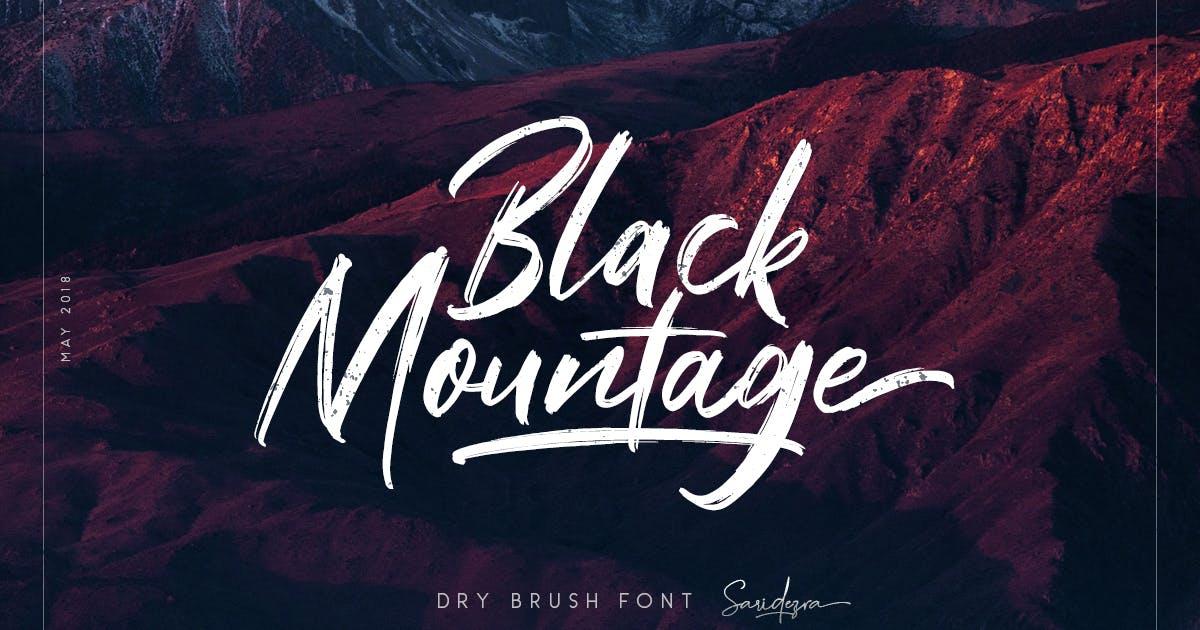 Download Black Mountage - Brush Font by saridezra