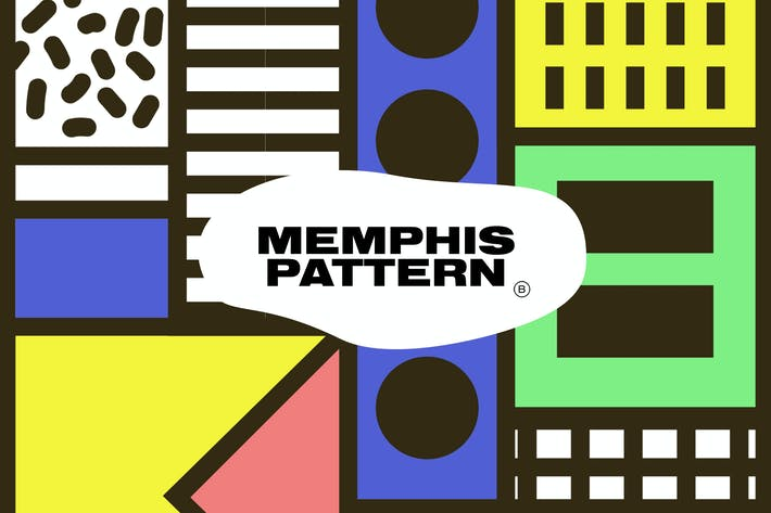 Thumbnail for Memphis Color Geometric Pattern