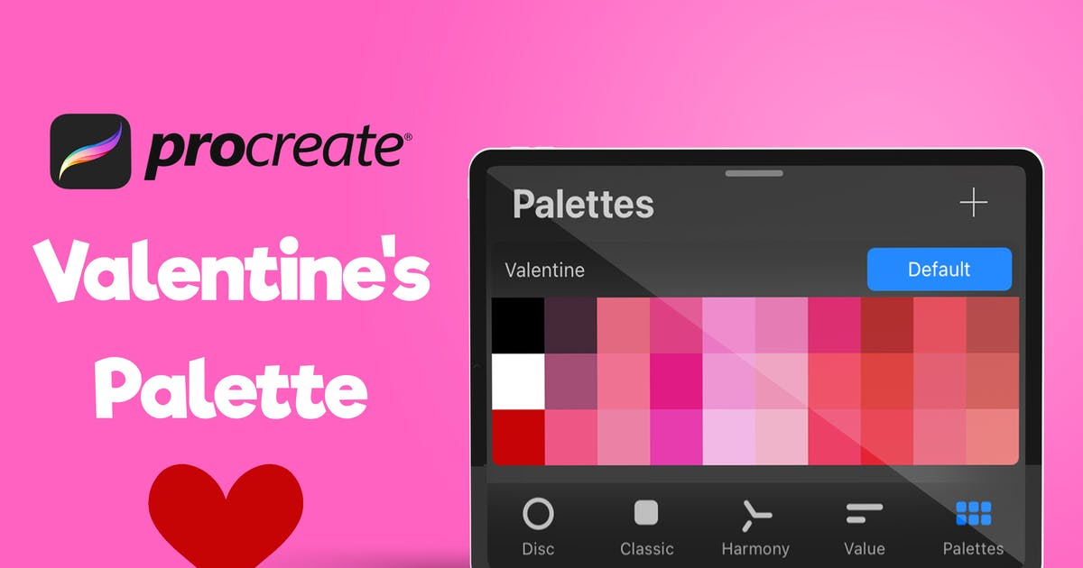 Download Procreate Palette - Valentine's by BrushBoy