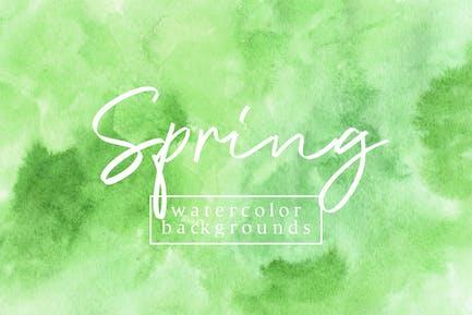 Frühling Aquarell Hintergründe