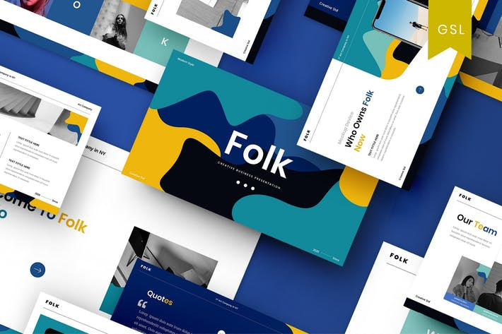 Thumbnail for Folk - Creative Business Google Slide Template