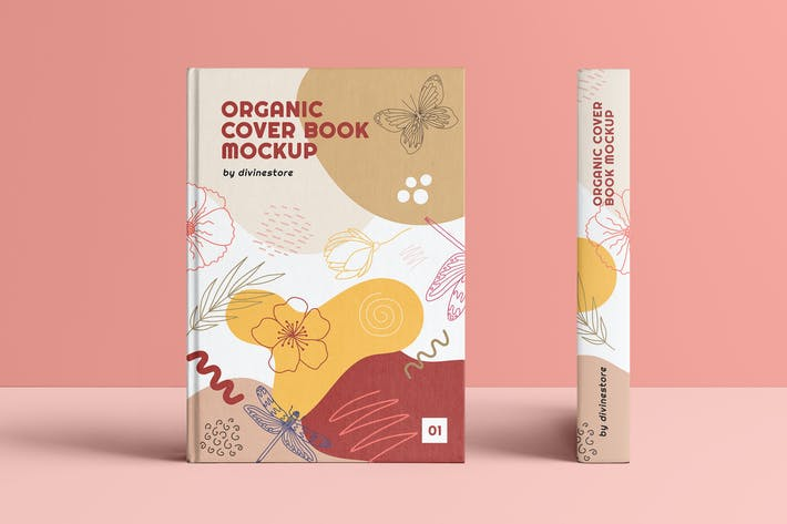 Thumbnail for Organic Cover Book Mockup