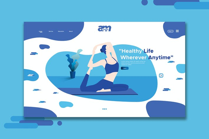 Thumbnail for Yoga - Web Header & Landing Page