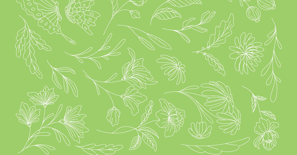 Download Botanical Line Illustration by MartypeCo