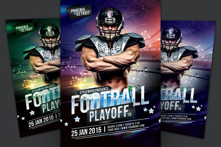 Cover Image For Football Playoff Flyer