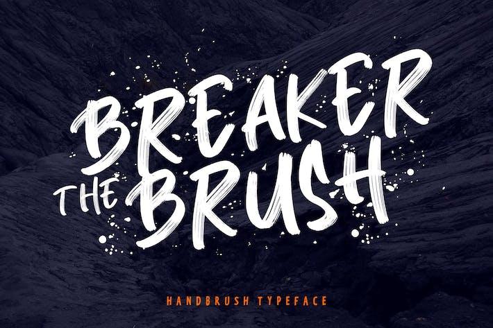 Thumbnail for Breaker The Brush Typeface