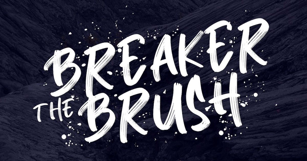 Download Breaker The Brush Typeface by RahardiCreative
