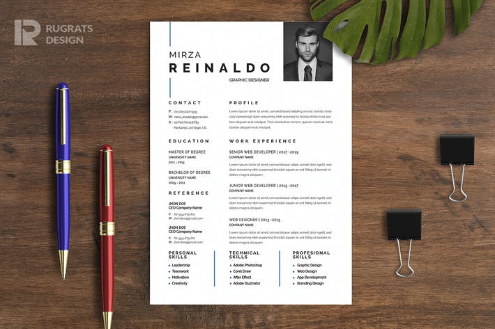 Thumbnail for Minimalist CV  Resume R20 Template