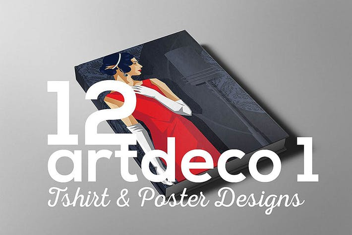 Thumbnail for ArtDeco Poster T-shirt Set 1