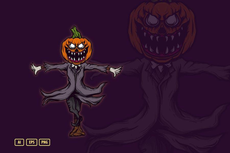 Иллюстрация пугало Хэллоуина