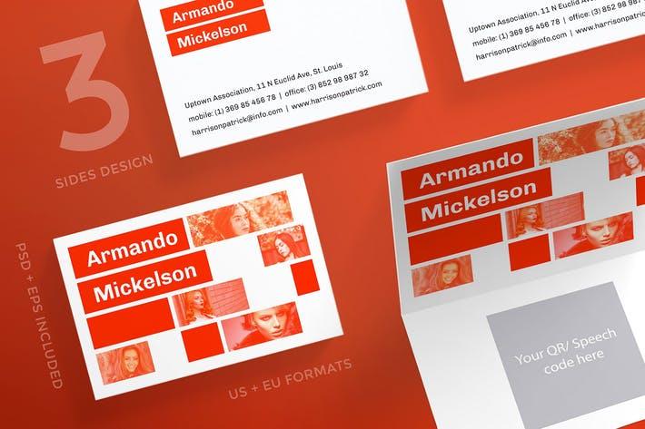 Thumbnail for Fashion Designer Business Card Template