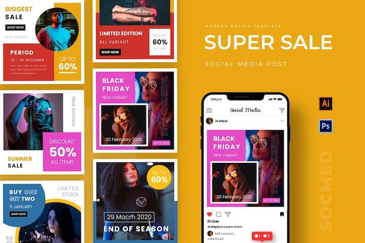 Thumbnail for Super Sale Instagram Post