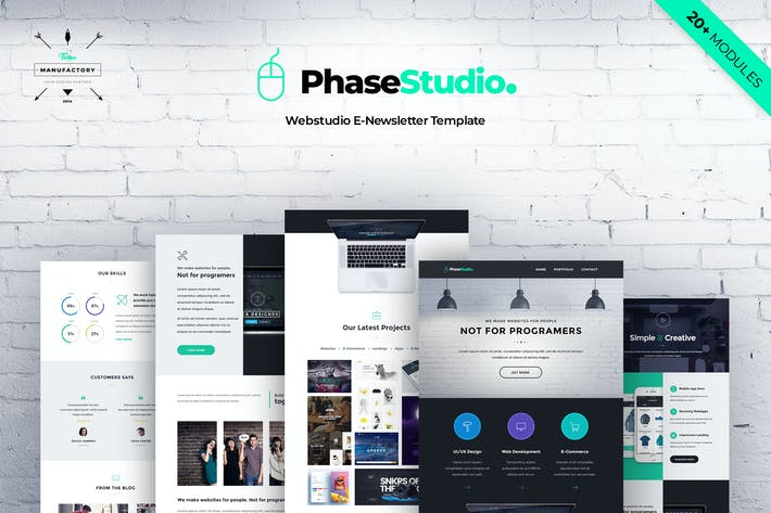 Thumbnail for PhaseStudio - Web Studio E-newsletter Template