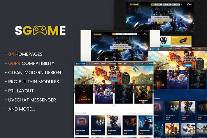 Thumbnail for SGame - Responsive Accessories Store OpenCart Them
