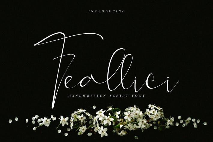 Thumbnail for Feallici Script Font