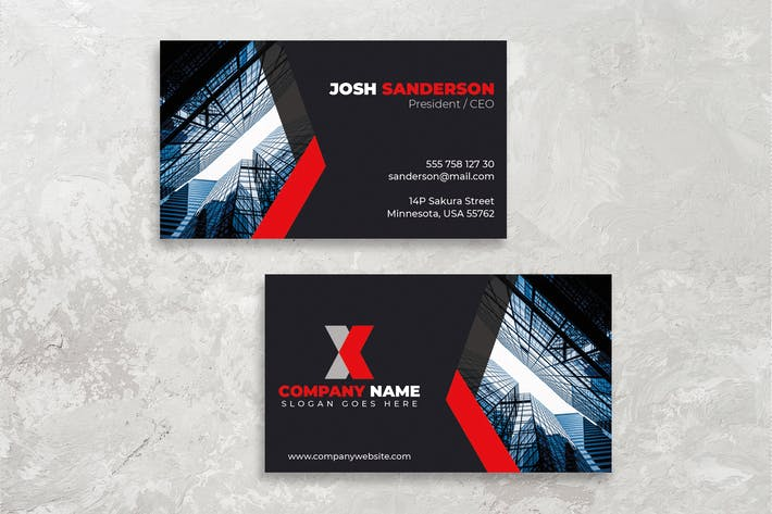 Thumbnail for Corporate Business Card Design Professional