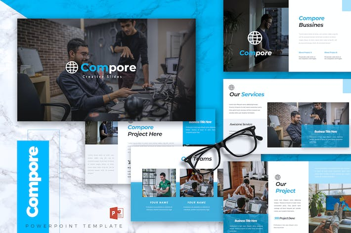 Thumbnail for COMPORE - Business Powerpoint Template