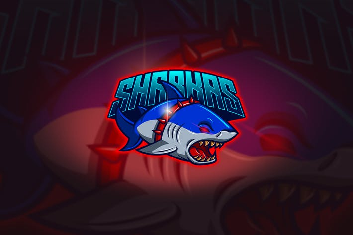 Thumbnail for Shark - Mascot & Esport Logo