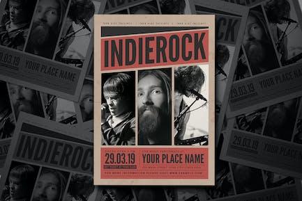 Indierock Music Event Flyer