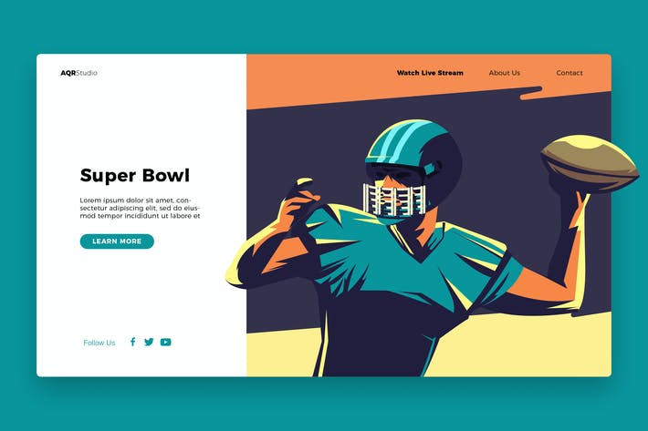 Thumbnail for Football - Banner & Landing Page