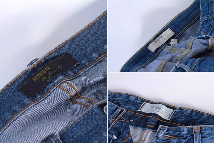 Thumbnail for Interior Jeans Label Mock Up