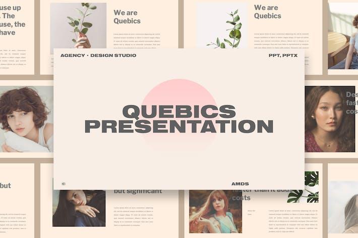 Thumbnail for Quebic - Modèle de présentation Design Studio