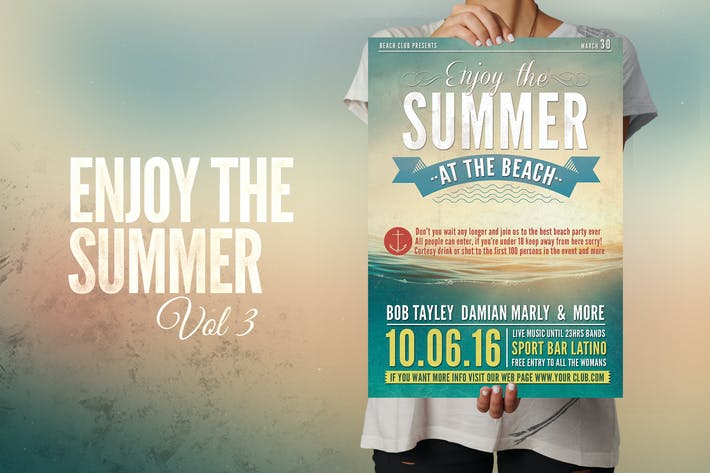 Thumbnail for Enjoy the Summer Flyer Poster