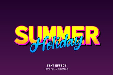 Summer holiday text effect