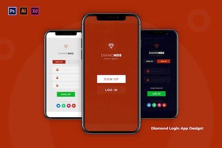 Diamond Login App