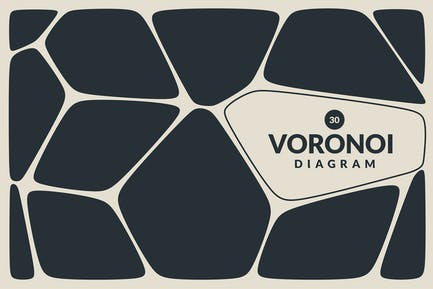 Fondos Vector de diagrama Voronoi