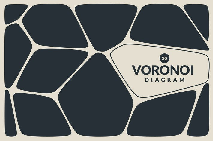 Voronoi Diagram Vector Backgrounds