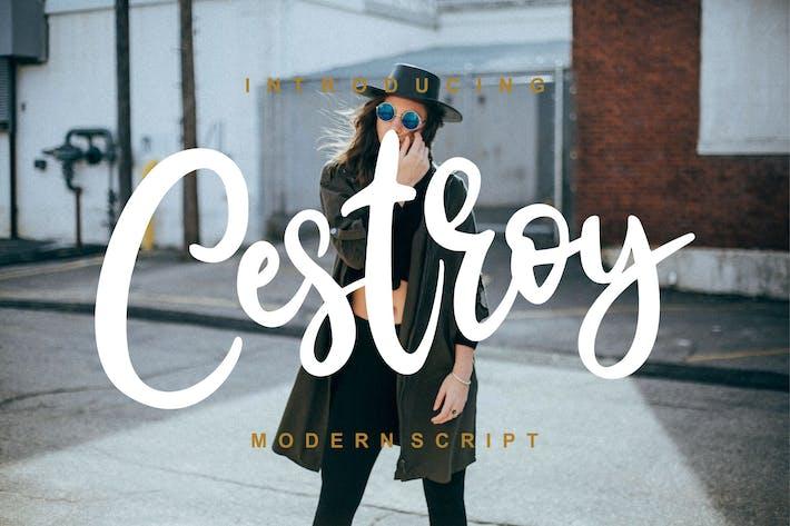Thumbnail for Cestroy Modern Script