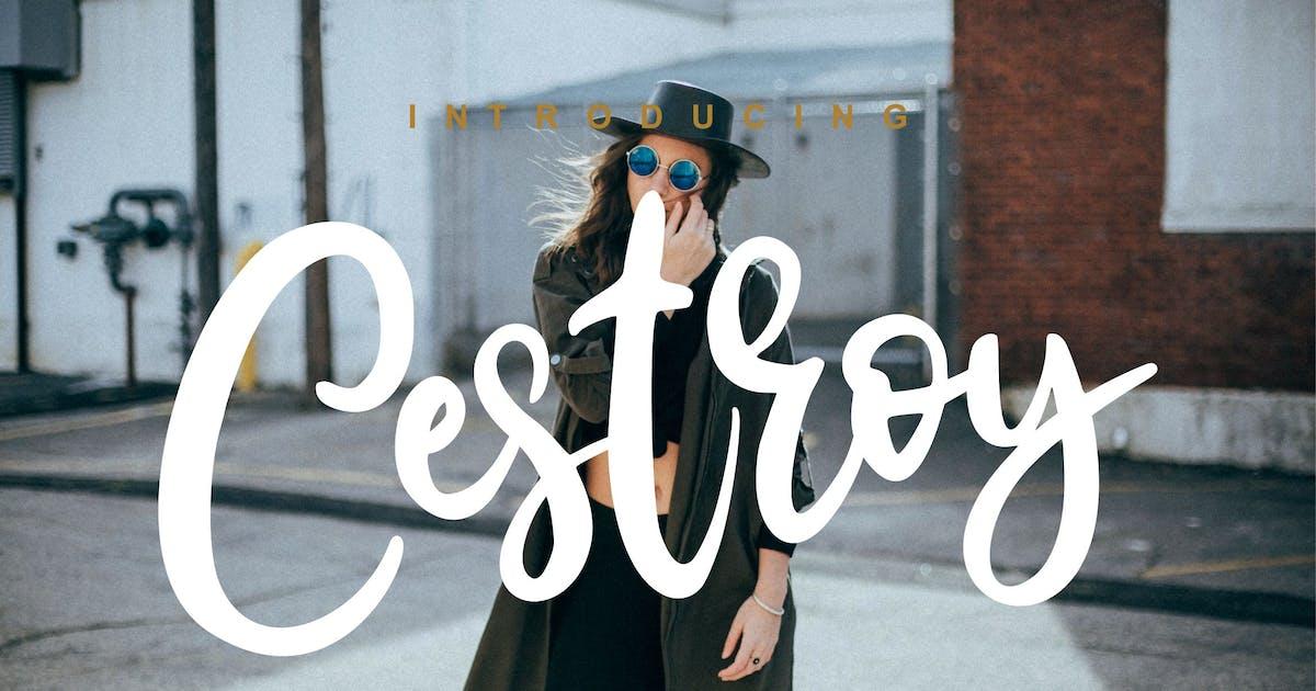 Download Cestroy Modern Script by Fannanstudio