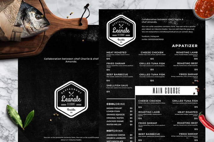 Thumbnail for Blackboard Food Menu. 23