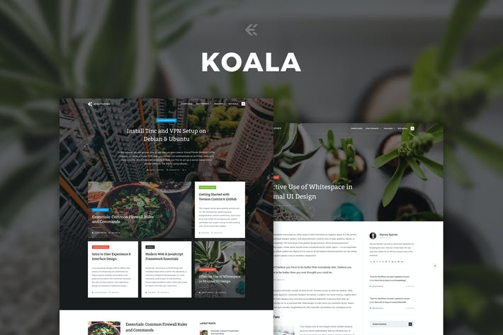 Thumbnail for Koala - Responsive WordPress Blog Theme