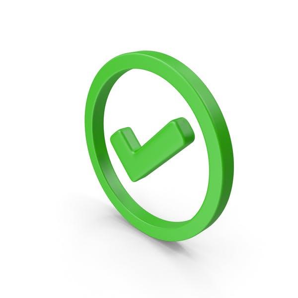 Check Circled Green Web Icon