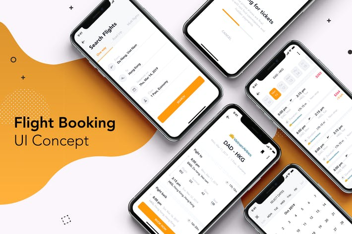 Thumbnail for 5 Flight Booking  UI Concept